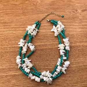 Jewelry - Abalone and turquoise necklace.